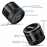 EasyAcc Mini Portable Rechargeable Bluetooth Speaker with Microphone for Tablet/Laptops - Titanium Black Bild 4
