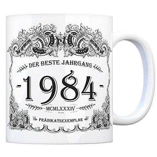 trendaffe - 1984 der Beste Jahrgang Kaffeebecher - EIN tolles Geschenk zum Geburtstag für Wein...