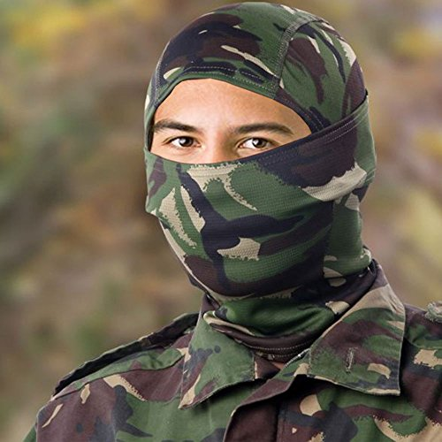 Airsoft DPM camouflage passamontagna Wrap testa copertura Sniper veil paintball Army camo