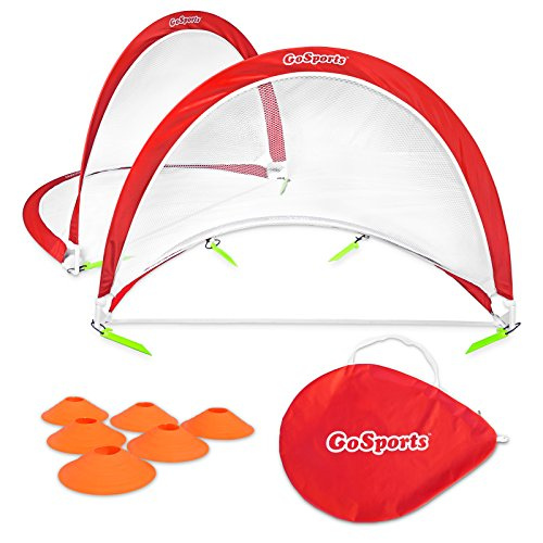 GoSports Portable Pop-Up Soccer Goal (Set of 2),...