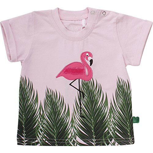 Fred'S World By Green Cotton Palm Baby, T- T-Shirt Bébé Fille, (Rose 013340501), 12 Mois