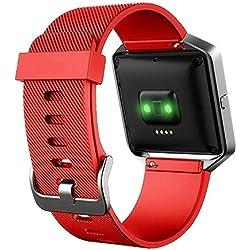 Pulsera de reemplazo para Fitbit Blaze, correas, hebilla, bandas, rojo