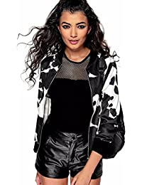 HCFKJ 2017 Mode Damen Drucken Satin Bomber Langarm Zipper Jacke Mantel  Outwear 277526de34