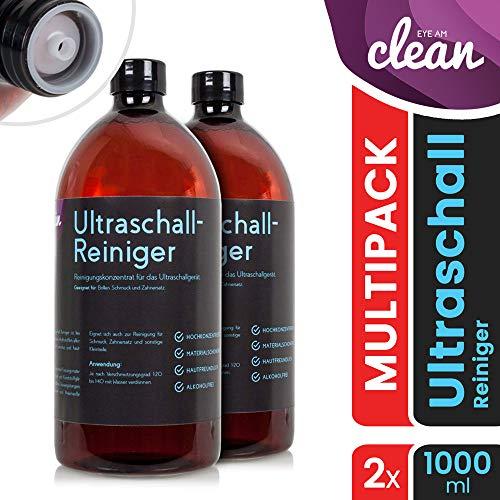 NEU: Ultraschallreiniger Konzentrat für die Brillenreinigung - Reinigungskonzentrat für jedes Ultraschallgerät Modell: PET-Flasche Braun (2 Liter) 2 Liter Modell