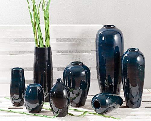 Dekoria Vase New York Papaya royal Blue 48cm Geschenk (Royal Blue Vase)