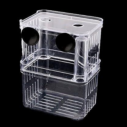 DealMux Plastic Aquarium Suction Cup Divider Fish Spawn Hatchery Breeder Case Box Clear 2
