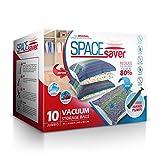 Sacs de rangement sous vide Spacesaver - Lots de 10sacs de qualité supérieure offant 80% d'espace de stockage supplémentaire Pompe manuelle pour le voyage....