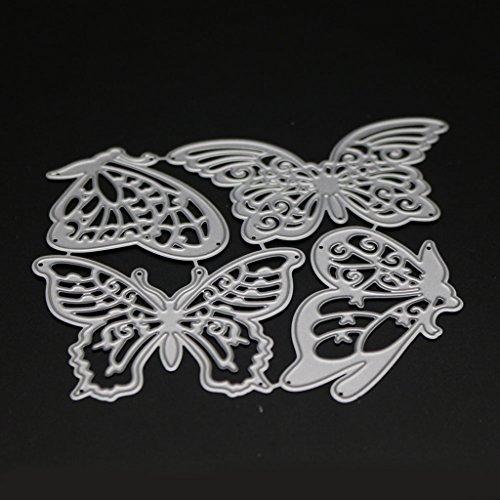 Wanfor Schmetterling Stanzformen Schablone DIY Scrapbooking Präge Album Papier Karte Handwerk