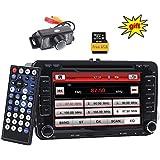 Doppel-DIN-Autoradio, GPS, 17,8cm (7Zoll), digitaler Touchscreen, WinCE-Betriebssystem, Auto-DVD-Player, USB / SD / FM / AM / RDS, Bluetooth, Haupteinheit für VW Golf 56, Polo, Jetta, Touran, Eos, Passat, CC, Tiguan, Sharan, Scirocco, Caddy, CAN-Bus für Lenkradsteuerung, Rückfahrkamera, 8GB europäisches Kartenmaterial