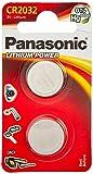 Panasonic CR2032 Batteria a litio, Argento, 2 pezzi