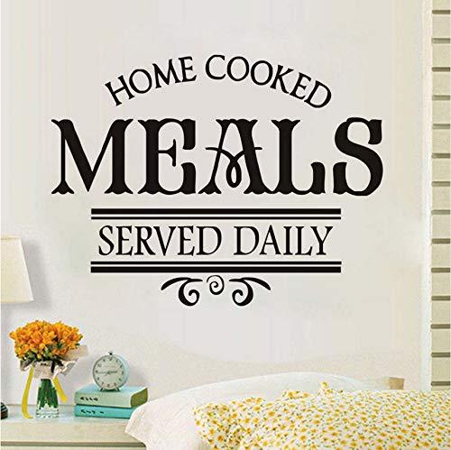 Wuyyii Hausgemachte Mahlzeiten Serviert Daily Restaurant Wandaufkleber Pvc Kunst Home Decor Wasserdicht Diy Decals Für Küche ()