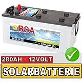 BSA 280Ah 12V Solarbatterie Wohnmobil Versorgungsbatterie Solar Batterie 230AH
