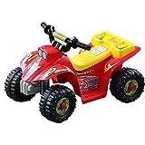 Outsunny - Moto elettrica per bambini - Quad per bimbi - Rosso e giallo