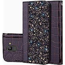 für Smartphone Samsung Galaxy J6 2018 Hülle, Leder Tasche für Samsung Galaxy J6 2018 Flip Cover Handyhülle Bookstyle mit Magnet Kartenfächer Standfunktion