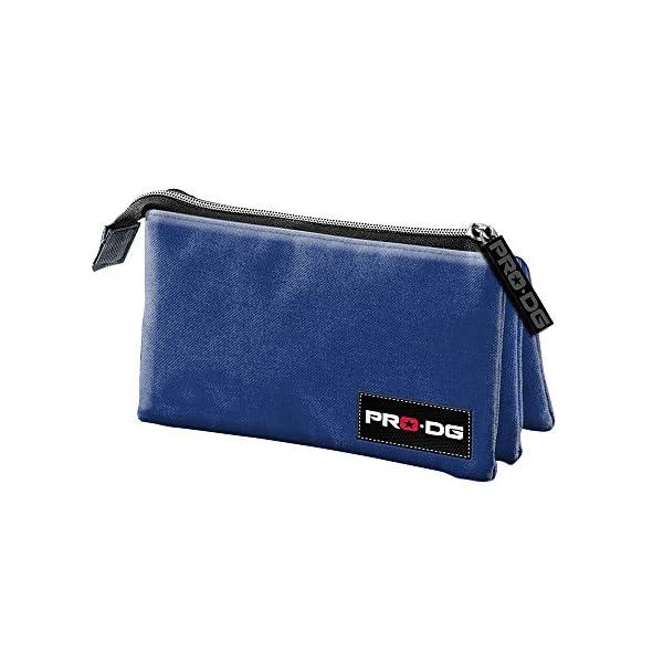 Pro-Dg Estuche portatodo Triple, Color Azul, 24 cm (Karactermanía 56864)