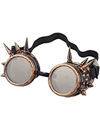 niceEshop(TM) Unisex Vintage Steampunk Goggles Spiked Gothic Welding Cyber Glasses
