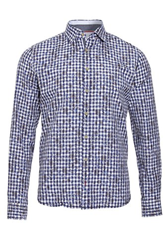 Pure - Chemise casual - Col Chemise Classique - Homme karo marine