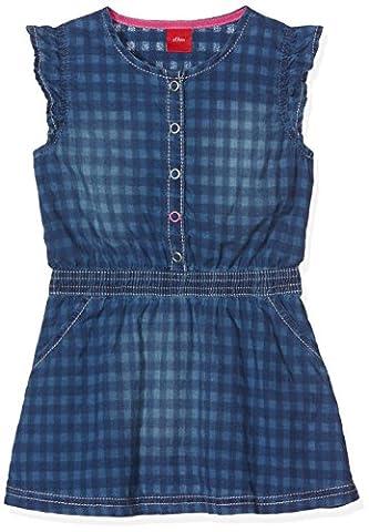 s.Oliver Baby-Mädchen Kleid Kurz, Blau (Blue Denim Non Stretch 55Y7), 92 (Jeans Kleid)
