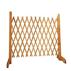 easylife lifestyle solutions Solid Wood Expanding Fence   Mobile and Movable Fence   Gardeners & Pet Owners   Fold-able Design and Lightweight   H:90cm x W:30-190 cm   From Natural Wood
