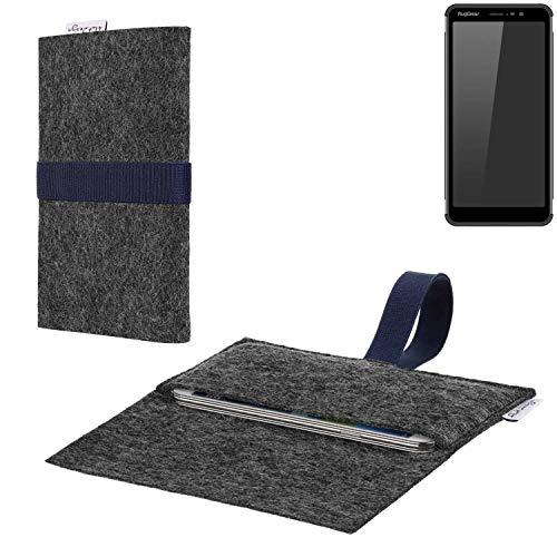 flat.design vegane Handy Hülle Aveiro für Ruggear RG850 passgenaue Filz Tasche Case Sleeve Made in Germany