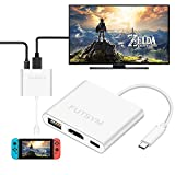Nintendo Switch Hub HDMI Adapter 4 K, futsym der U89 USB C bis HDMI HUB für Nintendo Switch Dock tragbar Zubehör Konverter Kabel zu TV Reise Dockingstation Samsung Galaxy Note 8 Dex S8 S9 Plus