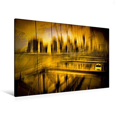 til-Leinwand 120 cm x 80 cm quer, City-Shapes NYC | Wandbild, Bild auf Keilrahmen, Fertigbild auf echter Leinwand, Leinwanddruck: Sicht von der Brooklyn Bridge Orte Orte ()