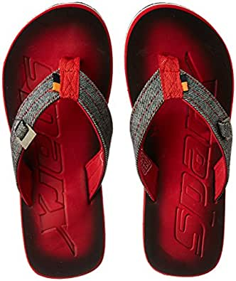 Sparx Men's Red and White Flip-Flops and House Slippers - 6 UK/India (40 EU)(SF-0037G)