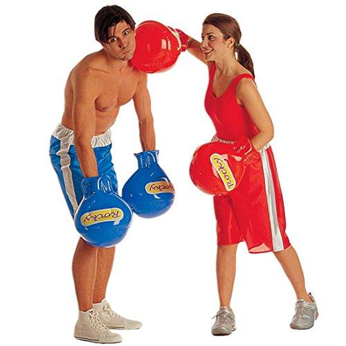Nette Boxer Kostüm - NET TOYS Aufblasbare Boxhandschuhe rot Boxer Handschuh zum Boxerkostüm Boxhandschuh Handschuh Kostüm Zubehör