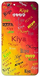 Kiya (The cooing of a bird or melodious) Name & Sign Printed All over customize & Personalized!! Protective back cover for your Smart Phone : Apple iPhone 7