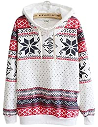 TUDUZ Newest Fashion Womens Christmas Hoodie Sweatshirt Jumper Sweater Hooded Pullover Tops Blouse Plus Size (M-4XL)