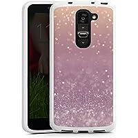 LG G2 mini Silikon Hülle Case Schutzhülle Glitzer Glanz Look
