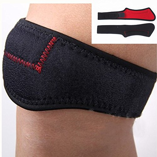 BAITER 1 Paire de sangles de genou professionnel Sport Genouillère rotulienne pression Ceinture hommes et femmes genou protection Pad pour la course à pied, Fitness, Saut, marche, Football, basket-ball, badminton, Tennis, Volley-ball, Randonnée et alpinisme
