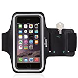 iPhone 6s plus Armband,iPhone 6 plus Armband,by Ailun,Feartured with Sport Scratch-Resistant Material,Slim Lightweight,Dual Arm-Size Slots,Sweat Resistant&Key Pocket,with Headphone Ports[BLACK]