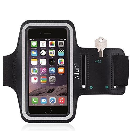 iPhone 6s Armband,iPhone 6 Armband,by Ailun,Feartured with Sport Scratch-Resistant Material,Slim Light Weight,Dual Arm-Size Slots,Sweat Resistant&Key Pocket,with Headphone Ports[Black] Test