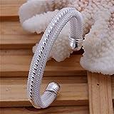 Lingstar(TM) New Fashion Jewelry Classic Knot 925 New Gift Women Lady solid Silver Bracelet Bangle YDHZ03