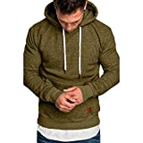 Herren Pullover Hoodie Basic Kapuzenpullover Langarm Männer Herbst Winter Casual Hoodie Sweatshirt Hoodies Top Trainingsanzüge Pulli Riou Sale (4XL, Grün)