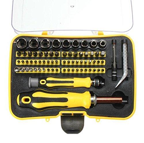 Preisvergleich Produktbild Asvert 70 in 1 Präzisionsschraubendreher Set Magnetschraubendreher Reparatur Werkzeugkit Sockel Set
