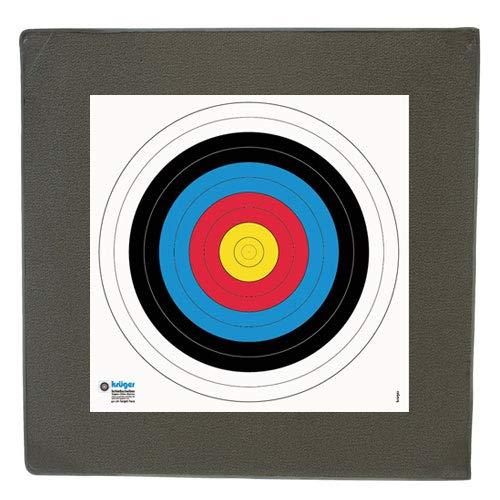 YATE Bogenschießen Zielscheibe Sandwich 60cm x 60cm x 7cm bis 30 lbs (Pfund) Bogensport Bogenschießscheibe Bogenzielscheibe mit 2 Scheibenauflagen 40cmx40cm Indoor & Outdoor