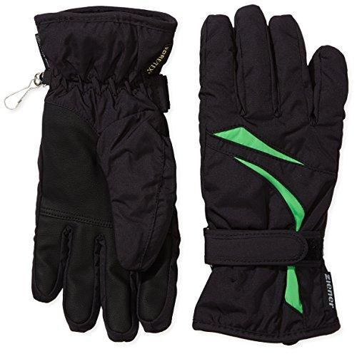 Ziener Damen Skihandschuhe Kuessa GTX Glove Lady, Black/Signal Green, 8, 991152