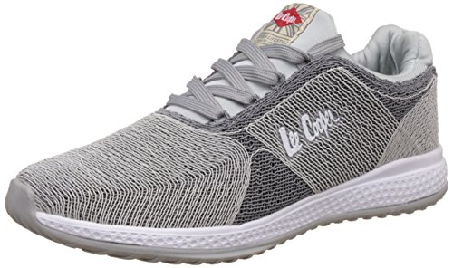 Lee Cooper Men's Light Grey and Dark Grey Sneakers - 9 UK/India (43 EU)