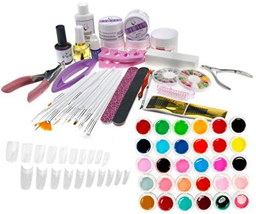 Kit de Manucure ongle Outil de Gel UV 30 Couleurs pures