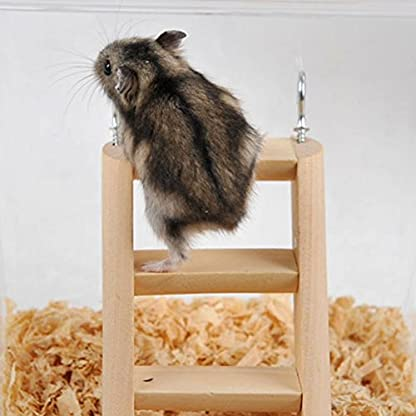 PanDaDa Small Animals Habitat Toy Funny Climbing Ladder Hamster Ladder Stand Wooden Climbing Toy Solid Playing Accessories 5