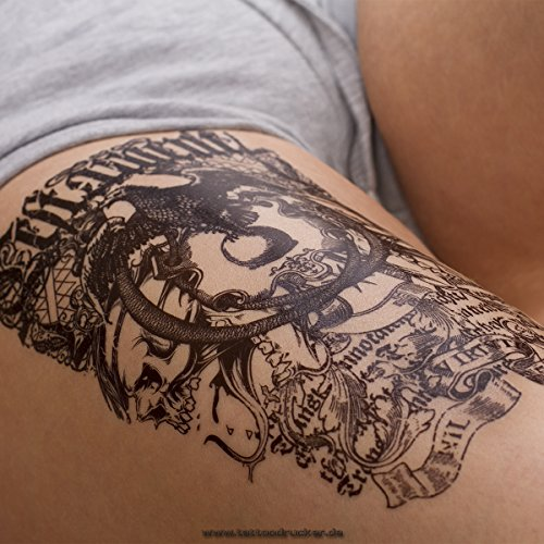 2 x Adler Totem Fake Tattoo - Schriftzug Arm einmal Tattoo - HB143 (2)