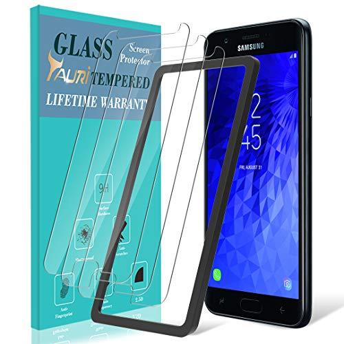 [3-Pack] für Samsung Galaxy von TAURIS J32018Displayschutzfolie, [Ausrichtung Rahmen] Easy installieren [Fall Freundlicher] gehärtetem Glas Displayschutzfolie, lebenslange Umtausch-Garantie (Watch Phone Boost Mobile)