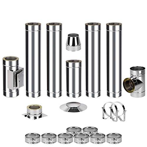 EASY kit de montage pour cheminée en acier 0–6 5,7 m
