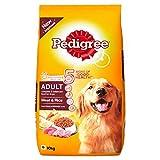#8: Pedigree Adult Dog Food Meat & Rice, 10 kg Pack