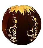 bh+ Edelrost Kugel -Herz mit Ranke- Ø 30cm (mit Leuchtsatz)