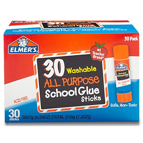 Office Elmers Klebestift (Elmer's E5567g waschbar Alle Zweck Schule Klebestifte, Box von 30, transparent)