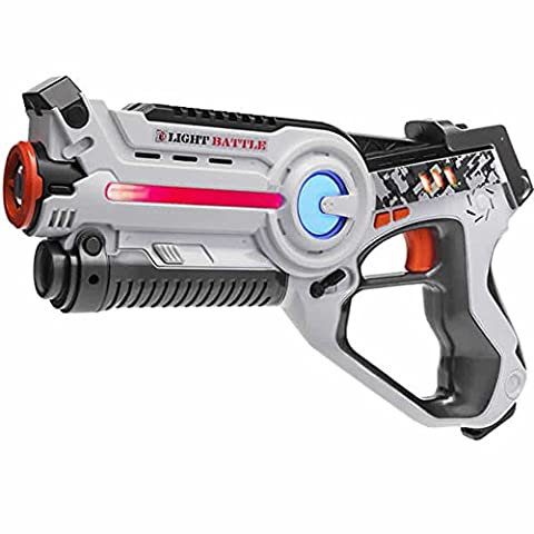 Laser tag Light Battle Active toy gun for kids - Color: white - Lazertagbattle shooting game -