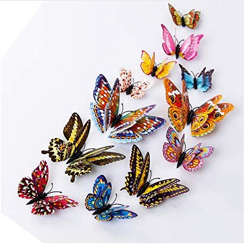 Schmetterlings-Entwurfs-Abziehbild-Kunst-Wand-Aufkleber-Raum-magnetisches Hauptdekor neues 12Pcs 3D